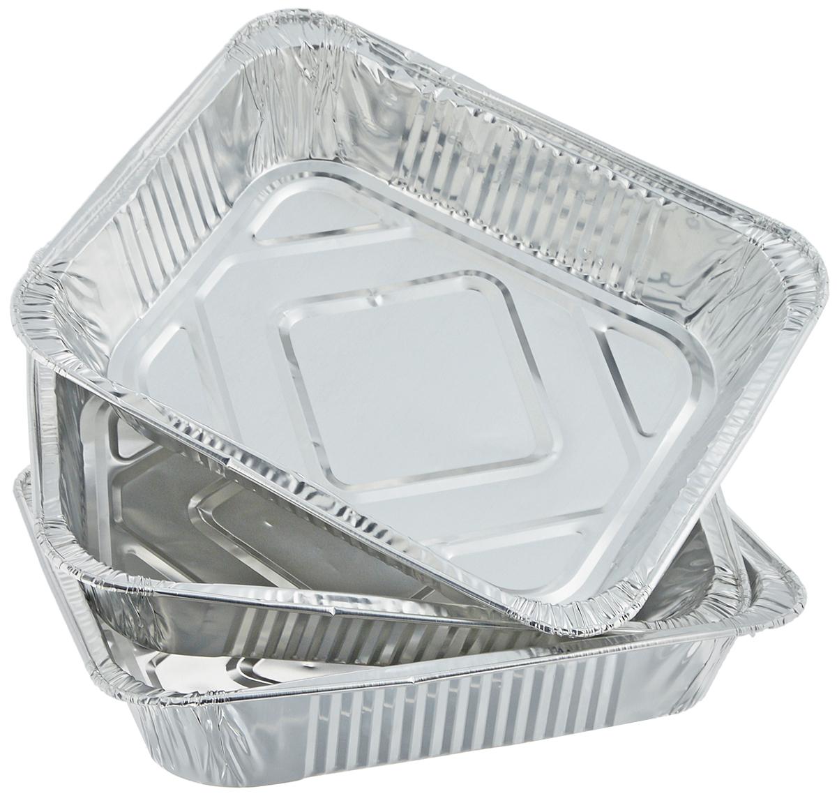 Набор форм для запекания Marmiton, 32 х 26 х 6,5 см, 3 шт11359Набор форм Marmiton, выполненный из алюминиевой фольги, идеально подходит для запекания, обжарки, хранения и замораживания продуктов, а также быстрого разогрева приготовленных блюд. Изделия обладают всеми свойствами обычной фольги для запекания: гигиеничные, легкие, прочные, теплопроводные.Использовать для запекания на гриле и в духовой печи (до +280°C), для замораживания (до -40°C).