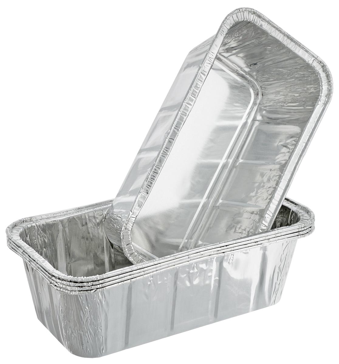 Набор форм для запекания Marmiton, 22 х 11,5 х 6 см, 5 шт11356Набор форм Marmiton, выполненный из алюминиевой фольги, идеально подходит для запекания, обжарки, хранения и замораживания продуктов, а также быстрого разогрева приготовленных блюд. Изделия обладают всеми свойствами обычной фольги для запекания: гигиеничные, легкие, прочные, теплопроводные.Использовать для запекания на гриле и в духовой печи (до +280°C), для замораживания (до -40°C).