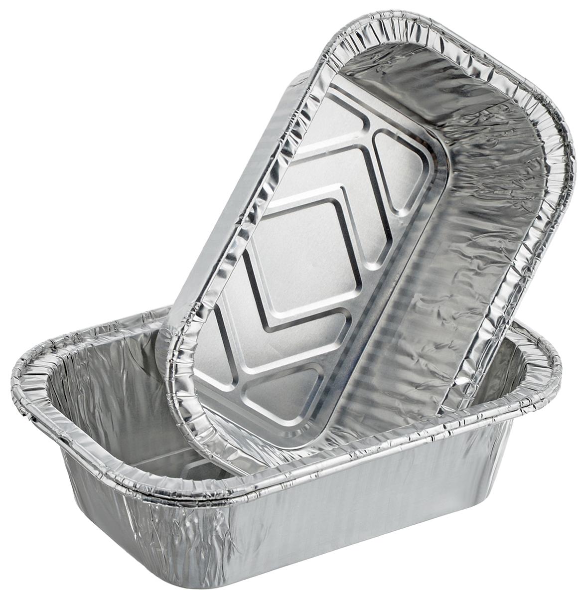 Набор форм для запекания Marmiton, 13,5 х 8,5 х 4 см, 3 шт11357Набор форм Marmiton, выполненный из алюминиевой фольги, идеально подходит для запекания, хранения и замораживания продуктов. Изделия обладают всеми свойствами обычной фольги для запекания: гигиеничные, легкие, прочные, теплопроводные.Использовать для запекания на гриле и в духовой печи (до +280°C), для замораживания (до -40°C).