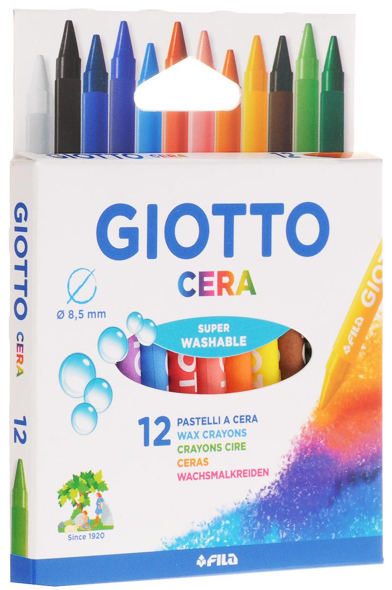 Giotto Восковые карандаши Cera 12 цветов giotto cera strong восковые карандаши с добавленим пластика 12цв ластик точилка