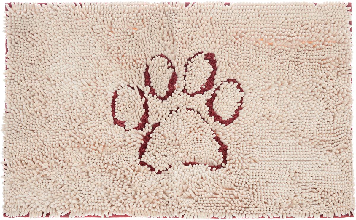 """Коврик для собак Dog Gone Smart """"Doormat"""", супервпитывающий, цвет: бежевый, красный, 79 х 51 см"""
