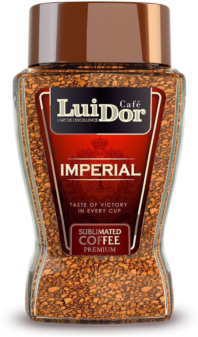 Luidor Imperial кофе растворимый сублимированный, 95 г5060468280517Кофе LUIDOR Imperial - это эксклюзивный купаж отборной колумбийской арабики сортов Supremo и Excelso.