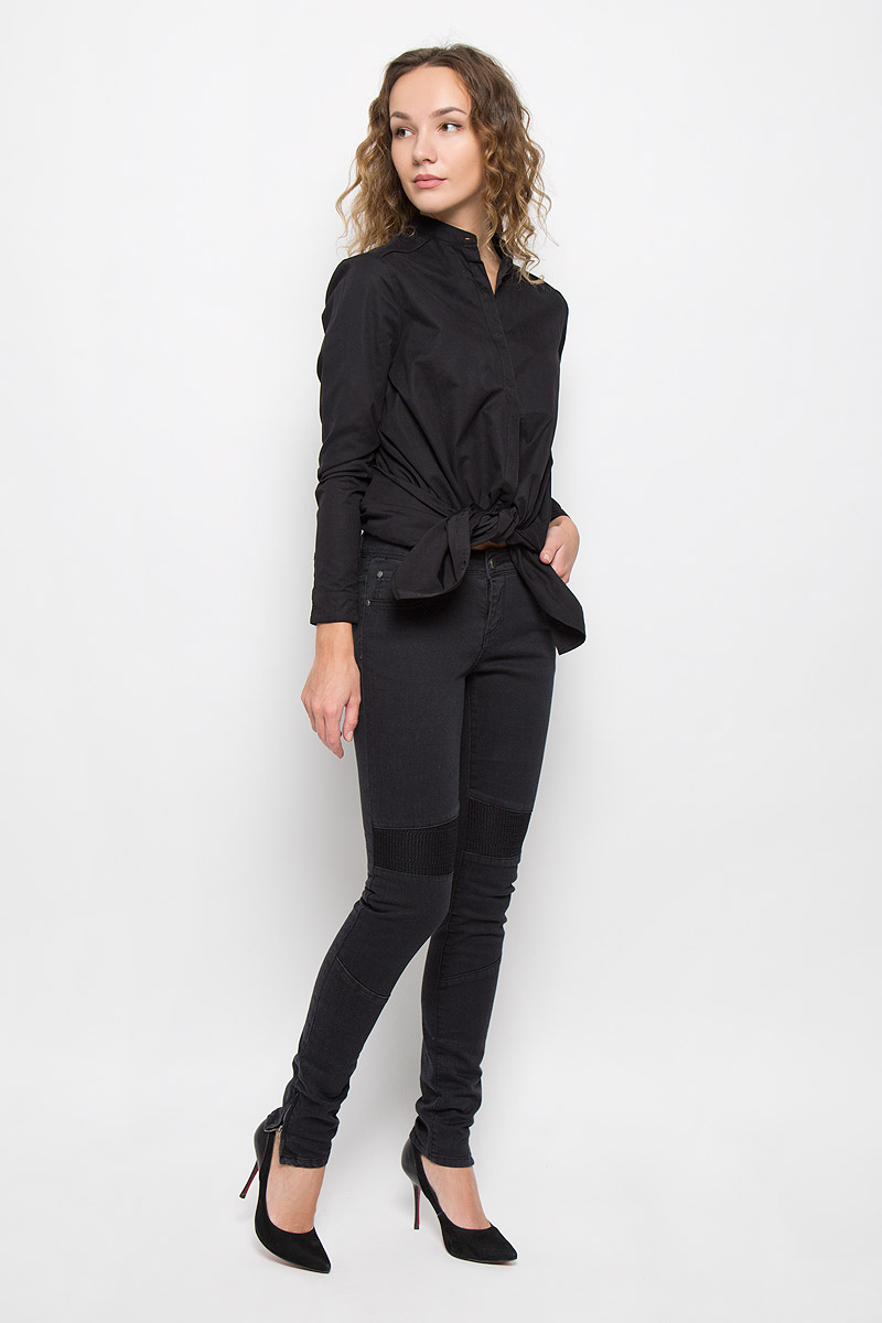 Джинсы женские Broadway, цвет: черный джинс. 10156608. Размер 27-32 (44/46-32)10156608_999Стильные женские джинсы Broadway созданы специально для того, чтобы подчеркивать достоинства вашей фигуры. Модель-скинни со стандартной посадкой станет отличным дополнением к вашему современному образу.Застегиваются джинсы на металлическую пуговицу в поясе и ширинку на застежке-молнии, имеются шлевки для ремня. Спереди модель дополнена двумя втачными карманами и небольшим секретным кармашком, а сзади - двумя накладными карманами. Джинсы дополнены плотными вставками спереди и по низу модель оформлена металлическими змейками. Эти модные и в тоже время комфортные джинсы послужат отличным дополнением к вашему гардеробу.
