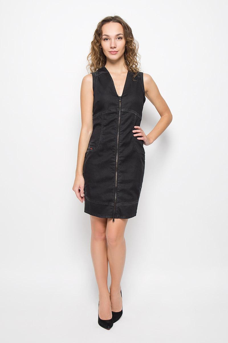Платье Diesel, цвет: черный. 00STUQ-0677N/02. Размер M (46) блузка diesel цвет черный белый 00svv6 0canq 900 размер l 46