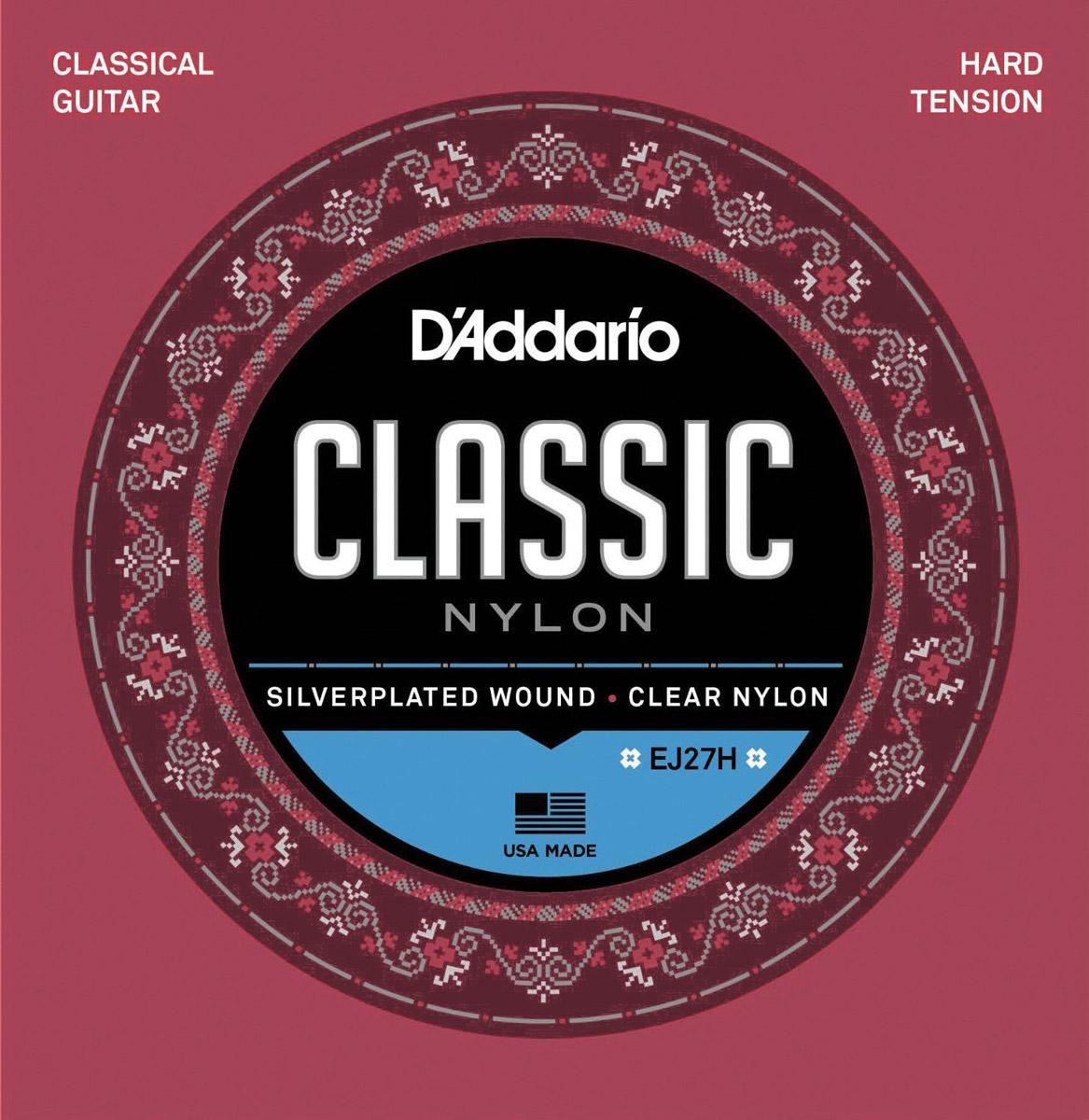 D'Addario EJ27H струны для классической гитары d addario ej46 струны для классической гитары