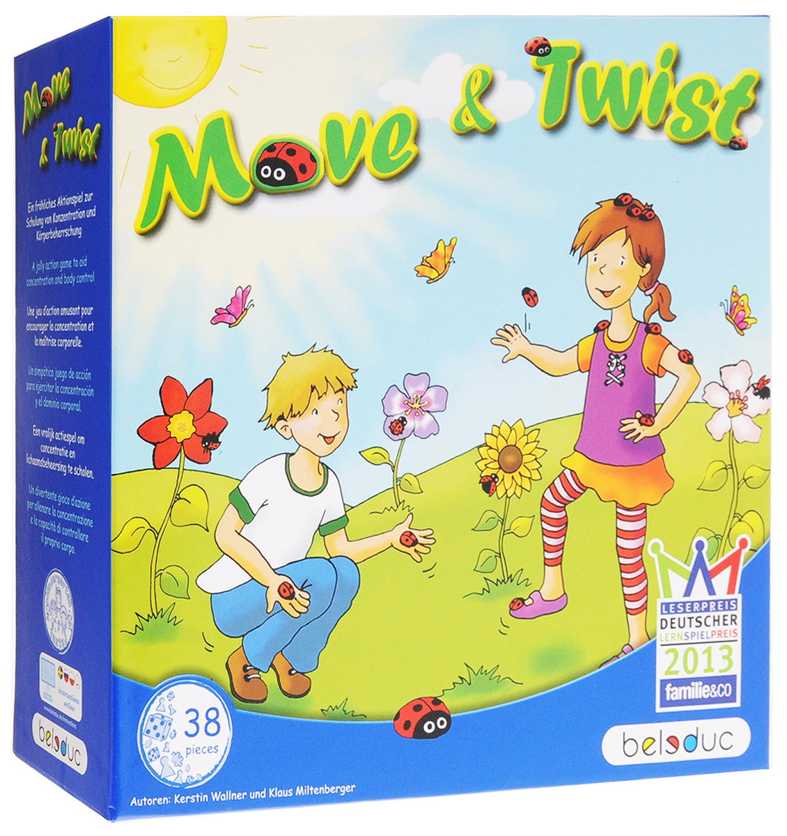 Beleduc Обучающая игра Move&Twist бк 04 магнит божья коровка 35мм 780420