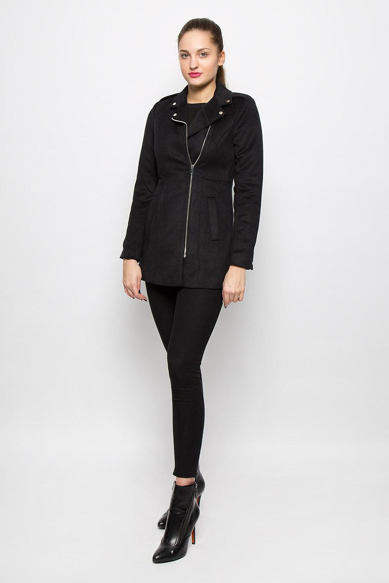 Пальто женское Vero Moda, цвет: черный. 10159249. Размер M (44) пальто женское vero moda цвет зеленый 10188866 pepper green размер s 42