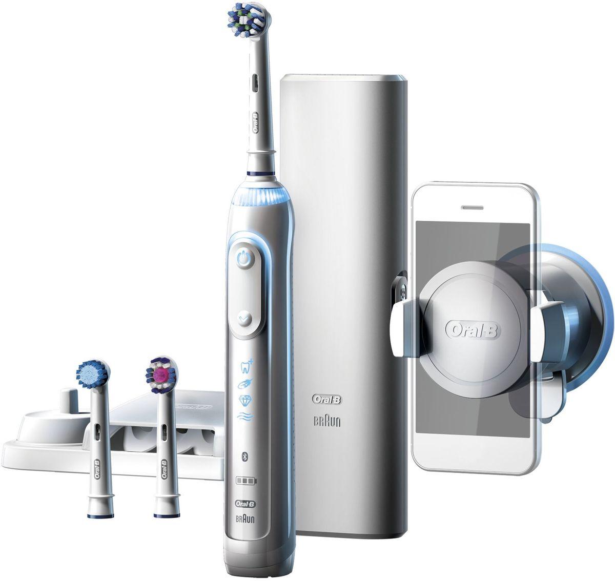 Oral-B Genius 8000, White электрическая зубная щетка - Товары для гигиены