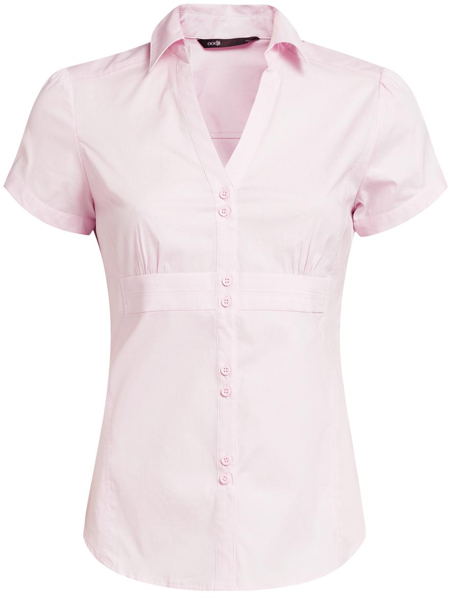 цены  Блузка женская oodji Ultra, цвет: бледно-розовый. 11402087/35527/4000N. Размер 36 (42-170)
