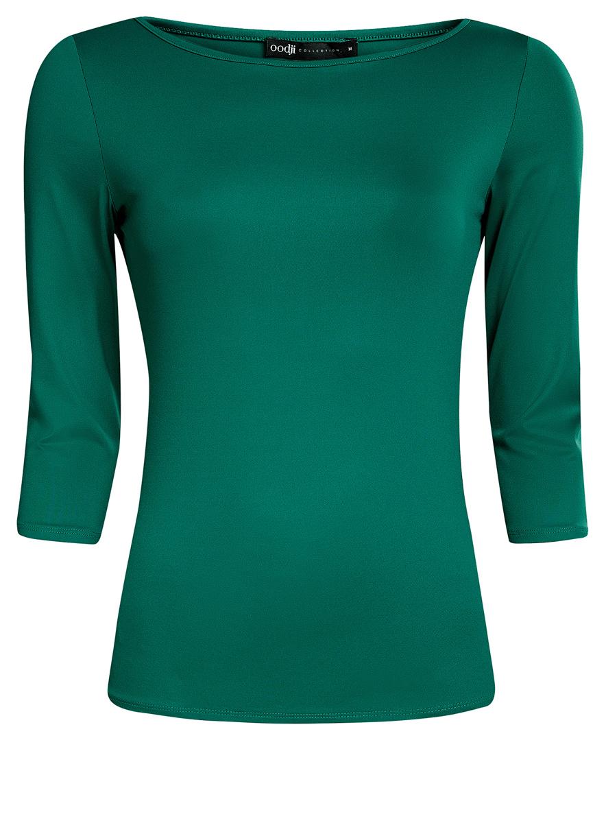 Купить Лонгслив женский oodji Collection, цвет: зеленый. 24211001B/45297/6E00N. Размер L (48)