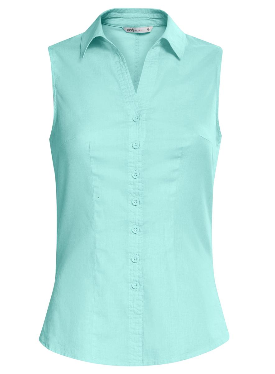 Купить Блузка женская oodji Ultra, цвет: голубой. 11405063-6/45510/7300N. Размер 36 (42-170)