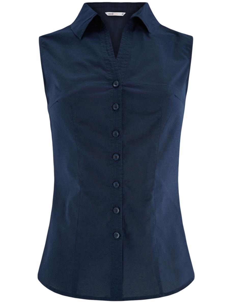 Купить Блузка женская oodji Ultra, цвет: темно-синий. 11405063-6/45510/7900N. Размер 36 (42-170)