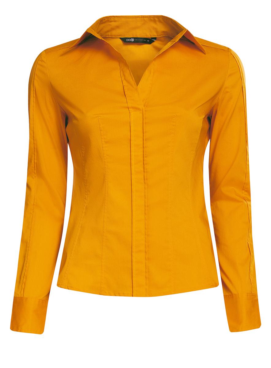 Блузка женская oodji Collection, цвет: желтый. 21407048/42853/5200N. Размер 46 (52-170)