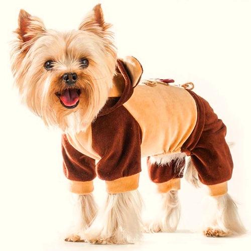 Комбинезон для собак Dogmoda Мишка, унисекс, цвет: коричневый, бежевый. Размер 4 (XL)