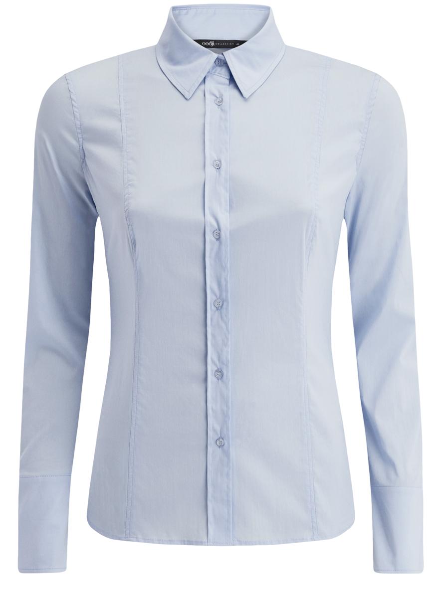 Блузка женская oodji Collection, цвет: бледно-голубой. 21400391/33431/7000N. Размер 46 (52-170) блузка женская averi цвет голубой 1440 размер 50 52