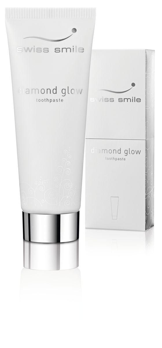 Swiss Smile Отбеливающая зубная паста Diamond Glow Brightening, 75 мл327000501 отбеливающая зубная паста 75 мл,с инструкцией, оригинальная упаковка