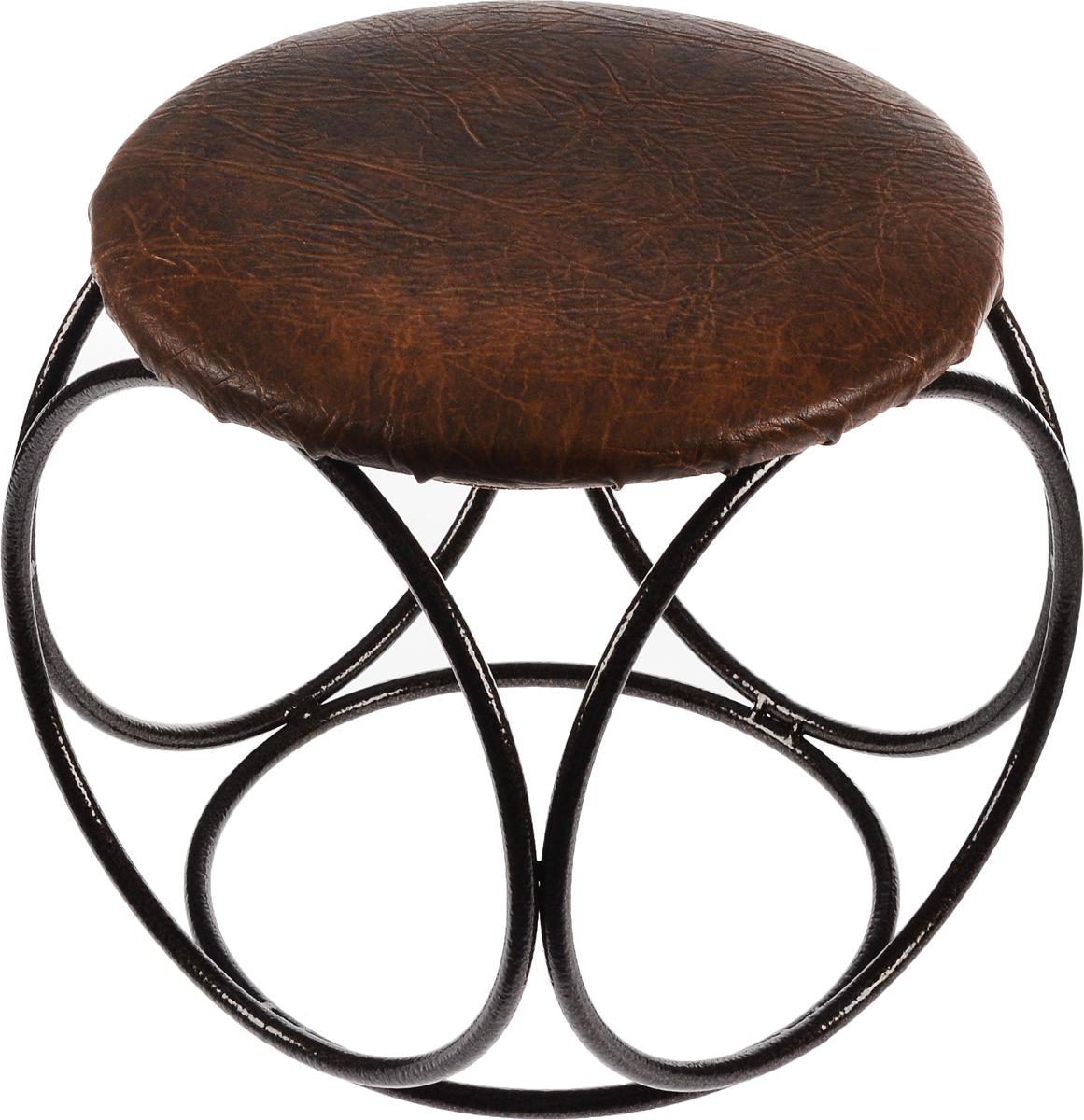 Банкетка для сидения ЗМИ, круглая, цвет: медный, коричневый, диаметр 30 см