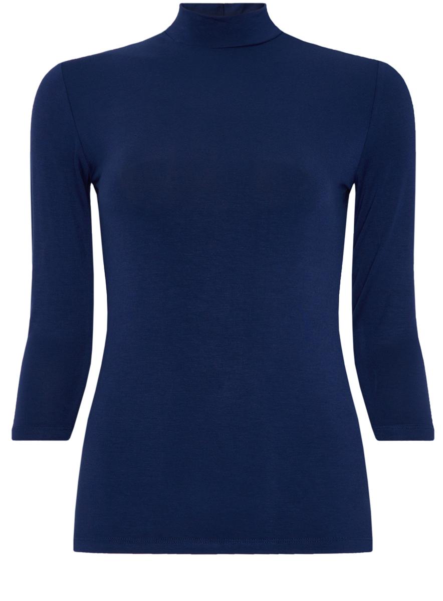 Водолазка женская oodji Ultra, цвет: темно-синий. 15E01001-1/42814/7900N. Размер XS (42) футболка женская oodji ultra цвет темно синий 3 шт 14701008t3 46154 7900n размер xs 42