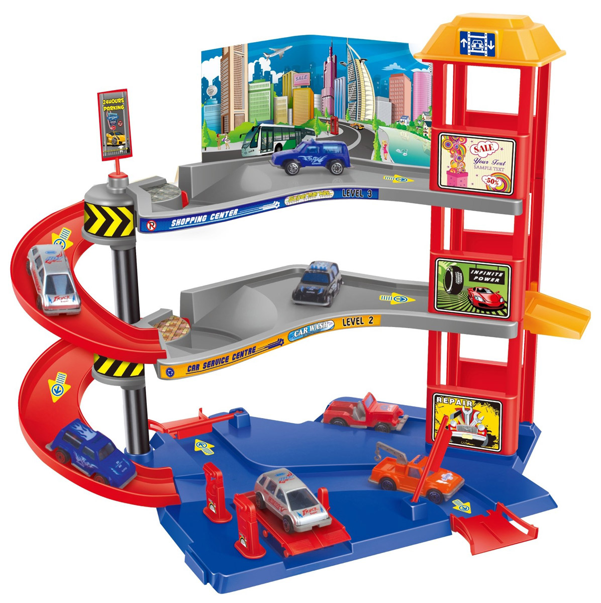 Dave Toy Игровой набор Парковочная башня набор для сборки машинки s2 muscle car deluxe modarri