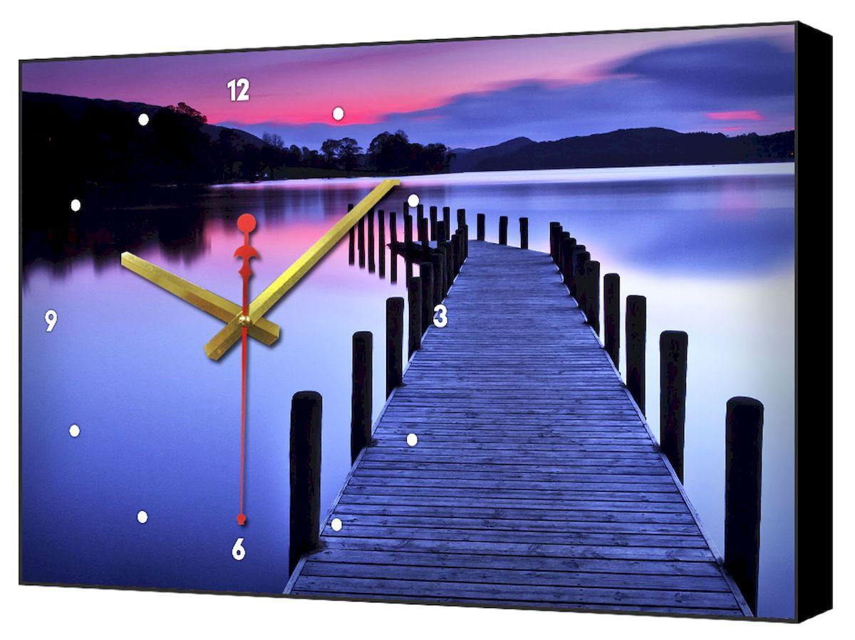 Часы-картина Toplight Пейзаж, 60 х 37 см. TL-C5030TL-C5030Настенные часы-картина Toplight Пейзаж выполнены из бумаги и оргалита, рама из МДФ. Часы имеют кварцевый механизм с плавным, бесшумным ходом и три стрелки: часовую, минутную и секундную. Современные технологии и цифровая печать, используемые в производстве, делают постер устойчивым к выцветанию и обеспечивают исключительное качество произведений. Благодаря наличию необходимых креплений в комплекте установка не займет много времени. Часы-картина Toplight - это прекрасная возможность создать яркий акцент при оформлении любого помещения.Правила ухода: можно протирать сухой, мягкой тканью. Часы работают от 1 батарейки типа АА (не входит в комплект).