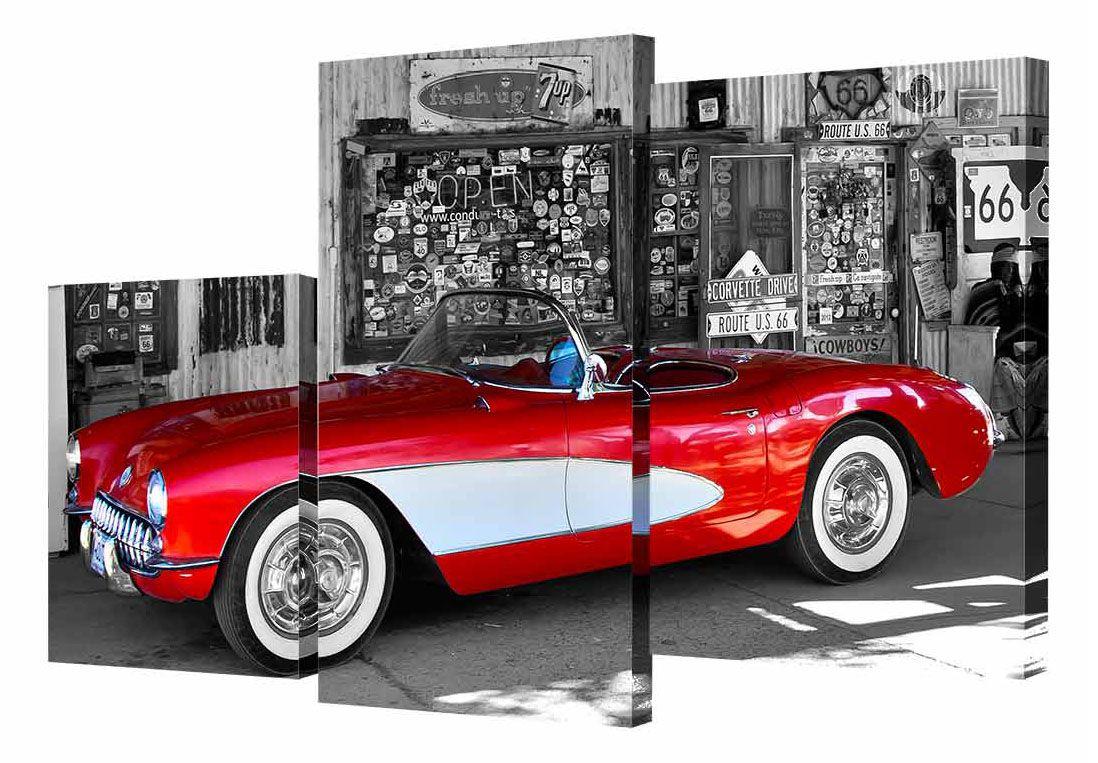 """Модульная картина Toplight """"Машины"""" выполнена из синтетического полотна, подрамник из МДФ.  Картина состоит из трех частей и выглядит очень аккуратно и эстетично благодаря такому способу оформления как галерейная натяжка. Подрамник исключает провисание полотна.  Современные технологии, уникальное оборудование и цифровая печать, используемые в производстве, делают постер устойчивым к выцветанию и обеспечивают исключительное качество произведений.  Благодаря наличию необходимых креплений в комплекте установка не займет много времени.  Модульная картина - это прекрасная возможность создать яркий акцент при оформлении любого помещения. Изделие обязательно привлечет внимание и подарит немало приятных впечатлений своим обладателям.   Правила ухода: можно протирать сухой, мягкой тканью.  Размеры модулей: 26 х 31 см, 26 х 50 см, 26 х 40 см.  Рекомендованное расстояние между сегментами: 1 см.  Толщина подрамника: 2 см."""