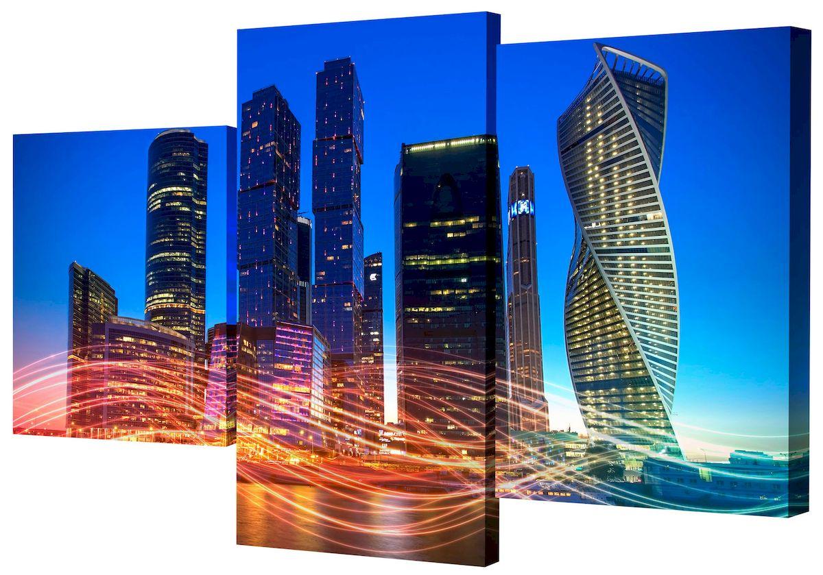 Картина модульная Toplight Город, 50 х 78 см. TL-MM1049TL-MM1049Модульная картина Toplight Город выполнена из синтетического полотна, подрамник из МДФ. Картина состоит из трех частей и выглядит очень аккуратно и эстетично благодаря такому способу оформления как галерейная натяжка. Подрамник исключает провисание полотна. Современные технологии, уникальное оборудование и цифровая печать, используемые в производстве, делают постер устойчивым к выцветанию и обеспечивают исключительное качество произведений. Благодаря наличию необходимых креплений в комплекте установка не займет много времени. Модульная картина - это прекрасная возможность создать яркий акцент при оформлении любого помещения. Изделие обязательно привлечет внимание и подарит немало приятных впечатлений своим обладателям. Правила ухода: можно протирать сухой, мягкой тканью. Размеры модулей: 26 х 31 см, 26 х 50 см, 26 х 40 см.Рекомендованное расстояние между сегментами: 1 см. Толщина подрамника: 2 см.