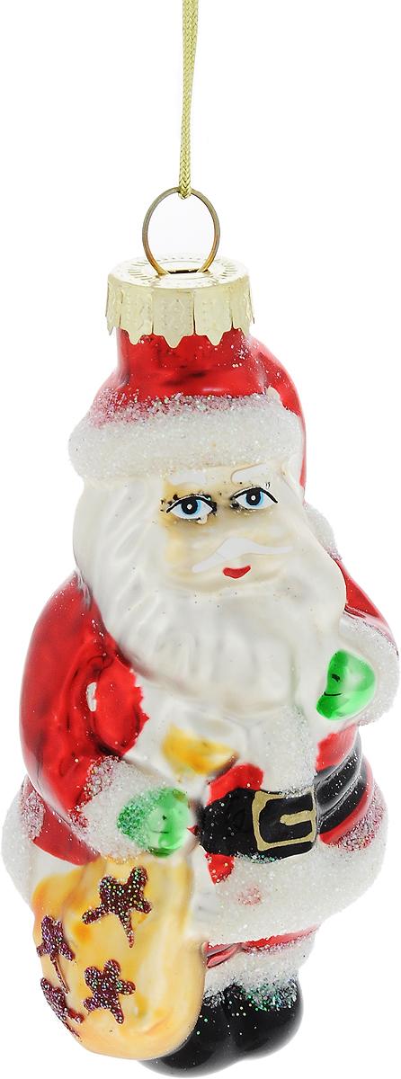 Украшение новогоднее подвесное Winter Wings Дед Мороз с мешком подарков, высота 9 смN07341Новогоднее украшение Winter Wings Дед Мороз с мешком подарковотлично подойдет для декорации вашего дома иновогодней ели.Изделие, выполненное из стекла, декорировано блестками и оснащеноспециальной петелькой для подвешивания. Елочная игрушка - символ Нового года. Она несет всебе волшебство и красоту праздника. Создайте всвоем доме атмосферу веселья и радости, украшаявсей семьей новогоднюю елку наряднымиигрушками, которые будут из года в год накапливатьтеплоту воспоминаний.