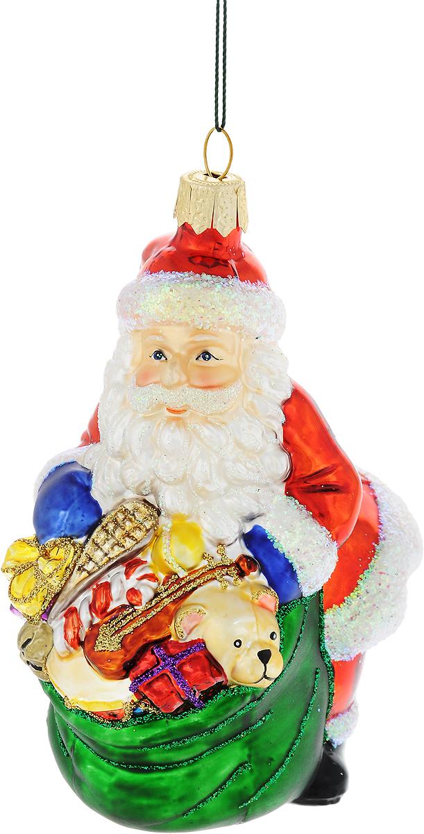 Украшение новогоднее подвесное Winter Wings Дед Мороз с подарками, высота 10 смN07115Новогоднее украшение Winter Wings Дед Мороз с подарками отлично подойдет для декорации вашего дома и новогодней ели. Изделие, выполненное из стекла, декорировано блестками и оснащено специальной петелькой для подвешивания.Елочная игрушка - символ Нового года. Она несет в себе волшебство и красоту праздника. Создайте в своем доме атмосферу веселья и радости, украшая всей семьей новогоднюю елку нарядными игрушками, которые будут из года в год накапливать теплоту воспоминаний.