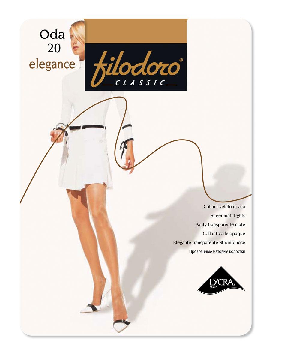 Колготки классические Filodoro Classic FilCl Oda 20 Elegance. Bronze. Размер 5 filodoro classic filodoro classic cotton warm grigio melange
