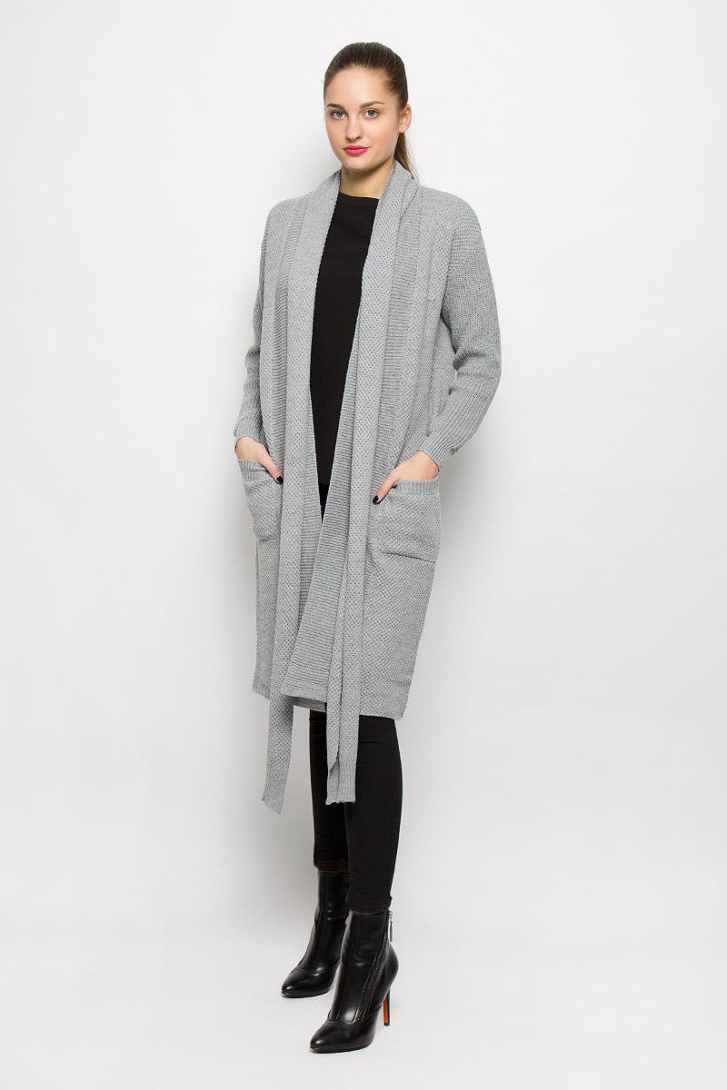 Кардиган женский Glamorous, цвет: серый. HS0153. Размер XS (42) glamorous gl008ewhnj90
