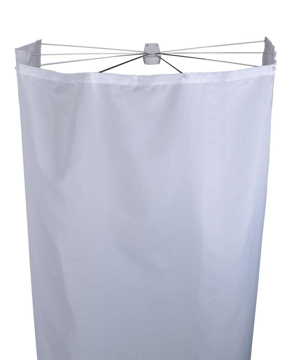 Набор для ванной комнаты Ridder Ombrella, цвет: белый, 2 предмета583010Набор для ванной комнаты Ridder Ombrella состоит из высококачественной немецкой штанги для душа и текстильной шторки. Для предотвращения царапин на штангу из спрессованного алюминиянаносится специальное покрытие. Размер штанги: 100 х 70 см. Размер текстильной шторки: 210 х 180 см.