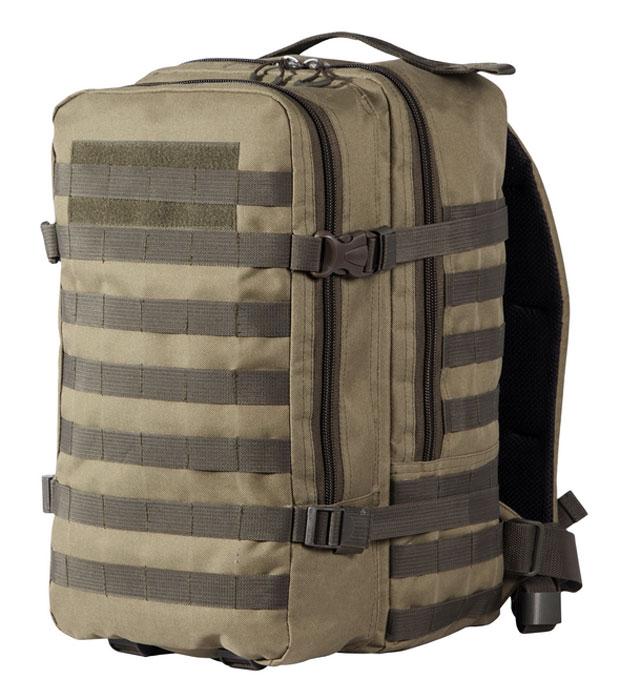 Рюкзак тактический Woodland Armada - 2, цвет: хаки, 30 л58053Тактический рюкзак Woodland Armada - 2 идеально подойдет для охоты и рыбалки, туристических путешествий, походов.Рюкзак изготовлен из высококачественной ткани Oxford 600 с пропиткой для защиты от проникновения влаги.Вместительность модели регулируется компрессионными боковыми ремнями на фастексах. Плотная спинка с мягкими вставками Airmesh и длина плечевых ремней обеспечивают комфорт и равномерное распределение нагрузки. Усиленная конструкция молнии и пластиковой фурнитуры обеспечит надежную эксплуатацию в самых экстремальных условиях.Особенности:- два вместительных отделения;- компрессионные утяжки по бокам и снизу;- боковые карманы;- поясной ремень для распределения нагрузки.Объем: 30 л.Материал: полиэстер 100%.