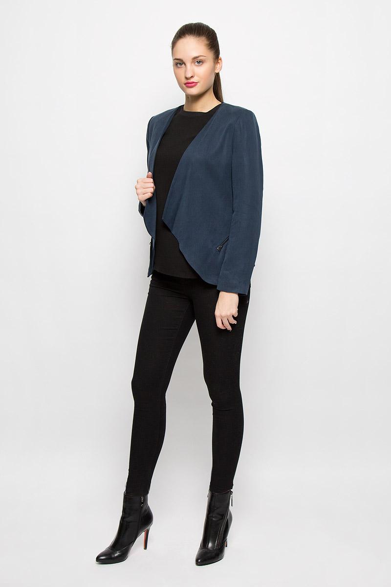 Кардиган женский Selected Femme, цвет: темно-синий. 16050132. Размер 40 (46)