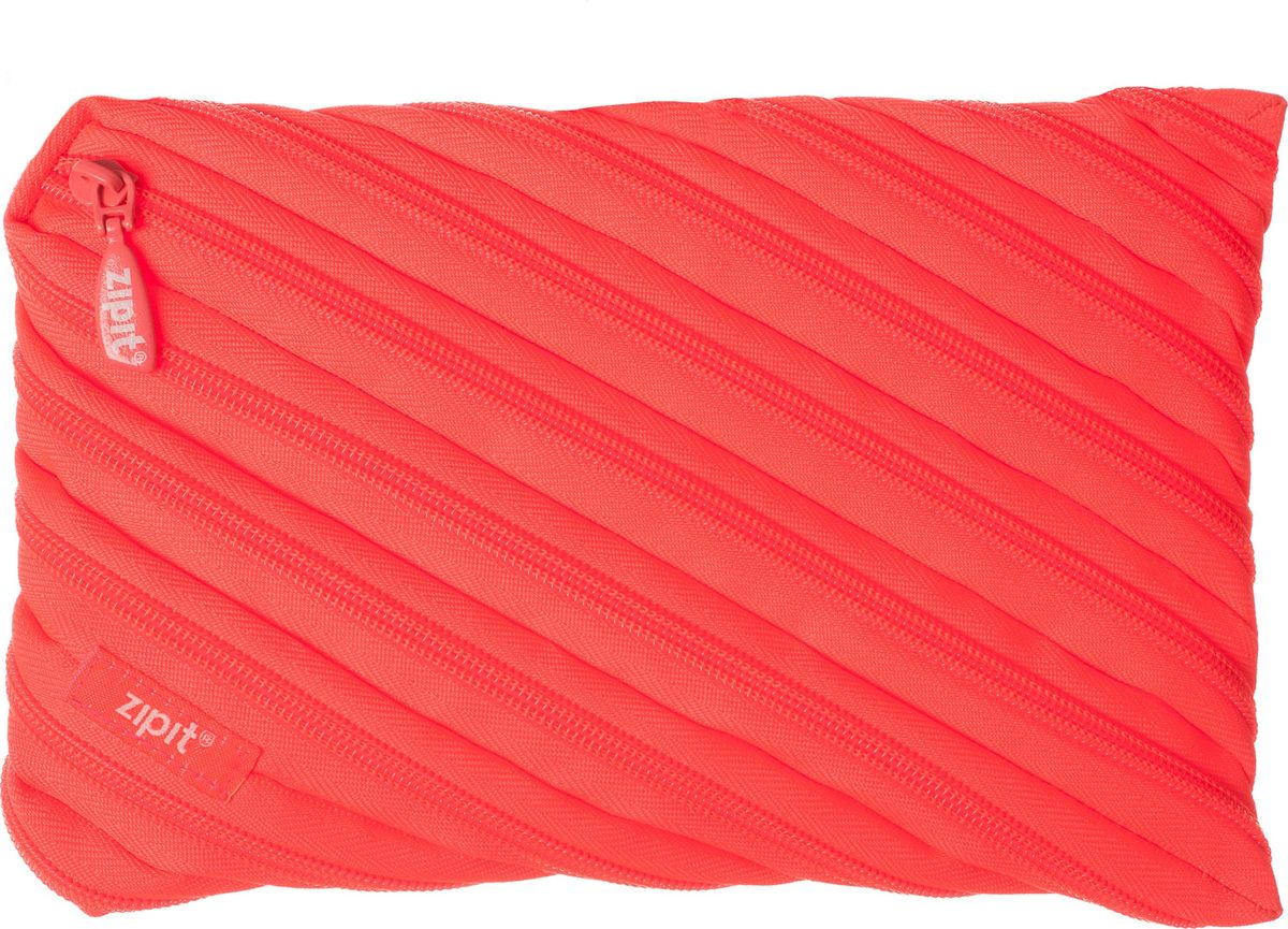 Zipit Пенал Neon Jumbo Pouch цвет коралловый zipit пенал сумочка neon jumbo pouch