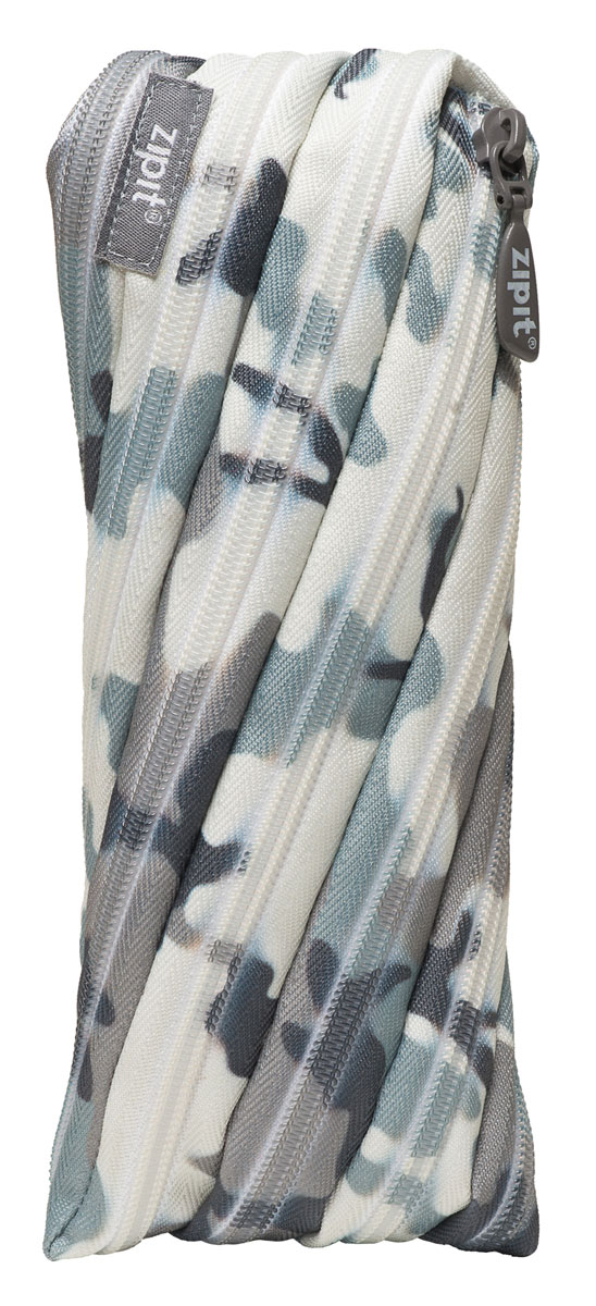 Zipit Пенал Camo Pouch цвет серый камуфляж zipit пенал camo jumbo pouch цвет серый зеленый коричневый