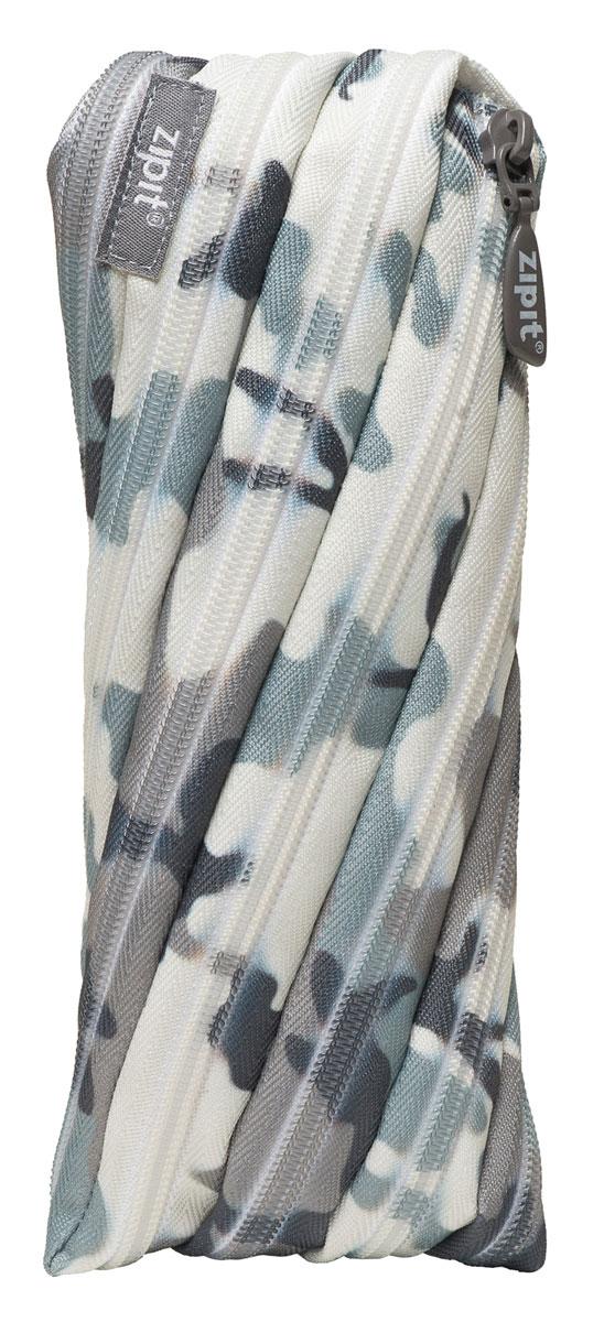 Zipit Пенал Camo Pouch цвет серый камуфляж zipit пенал сумочка neon jumbo pouch