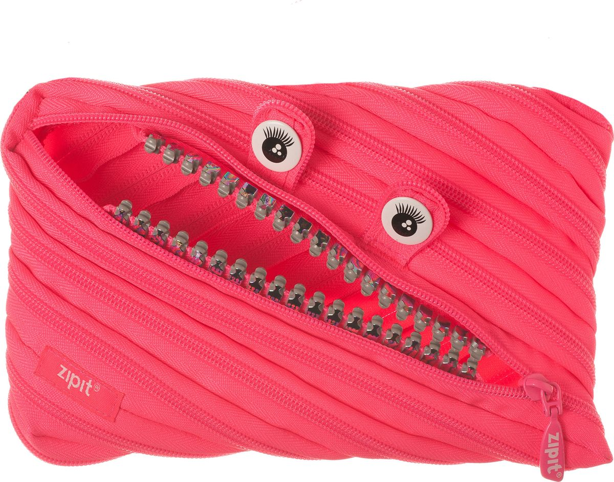 Zipit Пенал Grillz Jumbo Pouch цвет розовыйZTMJ-GR-DYНеобычный пенал Zipit Grillz Jumbo Pouch изготовлен из одной длинной застежки-молнии. Он удобен для разных мелочей и пишущих принадлежностей. Особенности пенала - зубки и глазки. Его обладатель всегда будет в хорошем настроении!