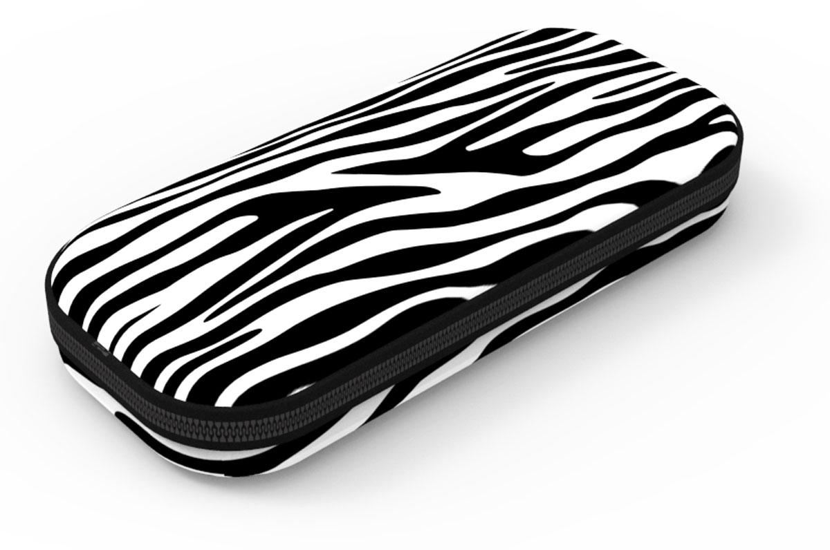 Zipit Пенал Colorz Box цвет черный белый zipit пенал сумочка neon jumbo pouch