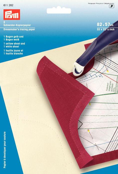 Копировальная бумага Prym для переноса выкройки, 2 шт611282Копировальная бумага Prym желтого и белого цветов предназначена для переноса выкройки. Характеристики: Материал: бумага, воск, краситель. Цвет: желтый, белый. Размер: 82 см х 57 см. Комплектация: 2 листа. Размер упаковки: 15,5 см х 22,5 см х 0,5 см. Артикул: 611282.