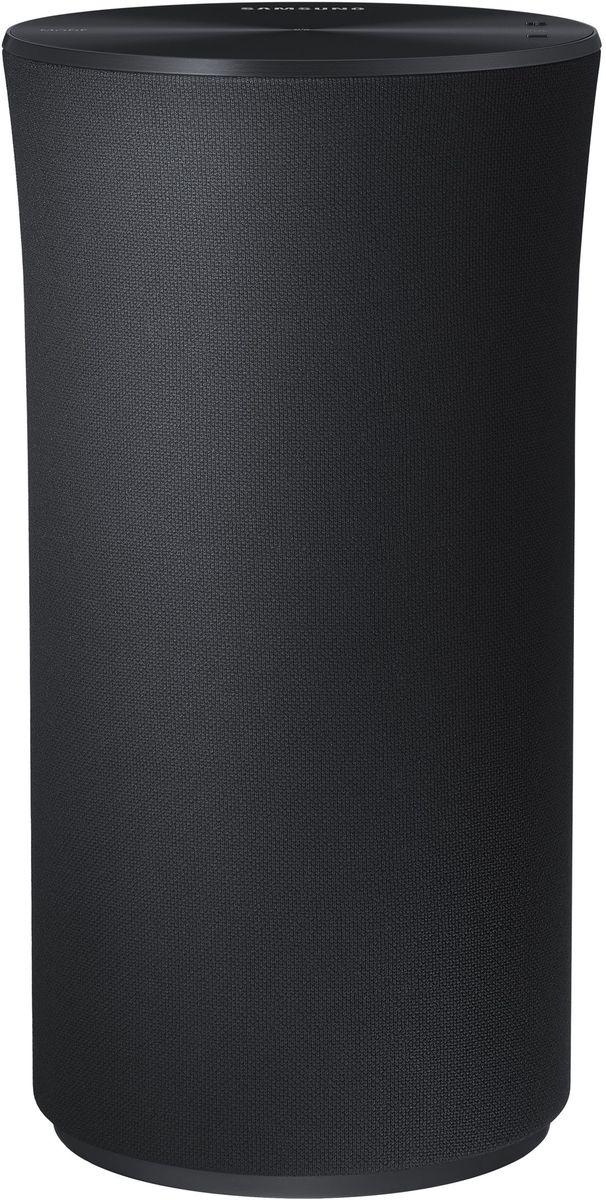 Samsung WAM1500 портативная акустическая системаWAM1500/RUSamsung WAM1500 беспроводная акустическая система с поддержкой Multiroom.В отличие от обычных динамиков, излучающих звук в одном направлении, акустическая система Wireless Audio – 360 заполняет звуком всю комнату. Это обеспечивается использованием специально разработанного кольцевого радиатора (Ring Radiator), излучающего звук во всех направлениях.Лаконичный, но эффектный дизайн аудиосистемы R1 вносит оттенок роскоши в интерьер вашего дома. Гладкая верхняя панель оснащена OLED дисплеем и служит панелью управления устройством.С помощью интуитивного интерфейса верхней панели управления системой R1 вы легко сможете выбирать любимые музыкальные треки. Просто коснитесь кнопки и скользните по панели для перехода к следующему или предыдущему треку, а с помощью кнопки Mode вы сможете переключиться в режим Wi-Fi, Bluetooth и TV SoundConnect. Яркий OLED дисплей позволит вам легко контролировать текущий режим устройства.Простой и интуитивный интерфейс приложения Multiroom App облегчает поиск и воспроизведение музыкальных файлов. Для навигации и выбора музыкальных треков можно использовать удобный сенсорный диск. С его помощью вы легко сможете воспроизводить музыку непосредственно с главного экрана, а также перемещаться по опциям меню.Управляйте вашей музыкой прямо со своих умных часов с помощью приложения Multiroom App, доступного теперь для часов Samsung Gear S и Apple Watch. Забудьте про свой смартфон и пользуйтесь часами для выбора и управления воспроизведением и громкостью звука.Функция Multiroom Link позволит легко управлять музыкой от одного источника звука и выводить ее на различные динамики, расположенные в разных местах вашего дома. Управляйте дистанционно своей музыкой, воспроизводимой на телевизоре, саундбаре, HES, BDP-проигрывателе и других устройствах.Акустическая беспроводная система Wireless Audio - 360 может подключаться к вашему смартфону и планшету в беспроводной режиме через Wi-Fi протокол. Одновремен