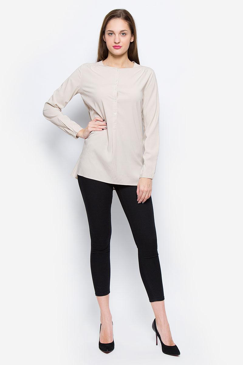 Блузка женская Marc O'Polo, цвет: бежевый. 119942599/131. Размер 40 (46) marc cain блузка