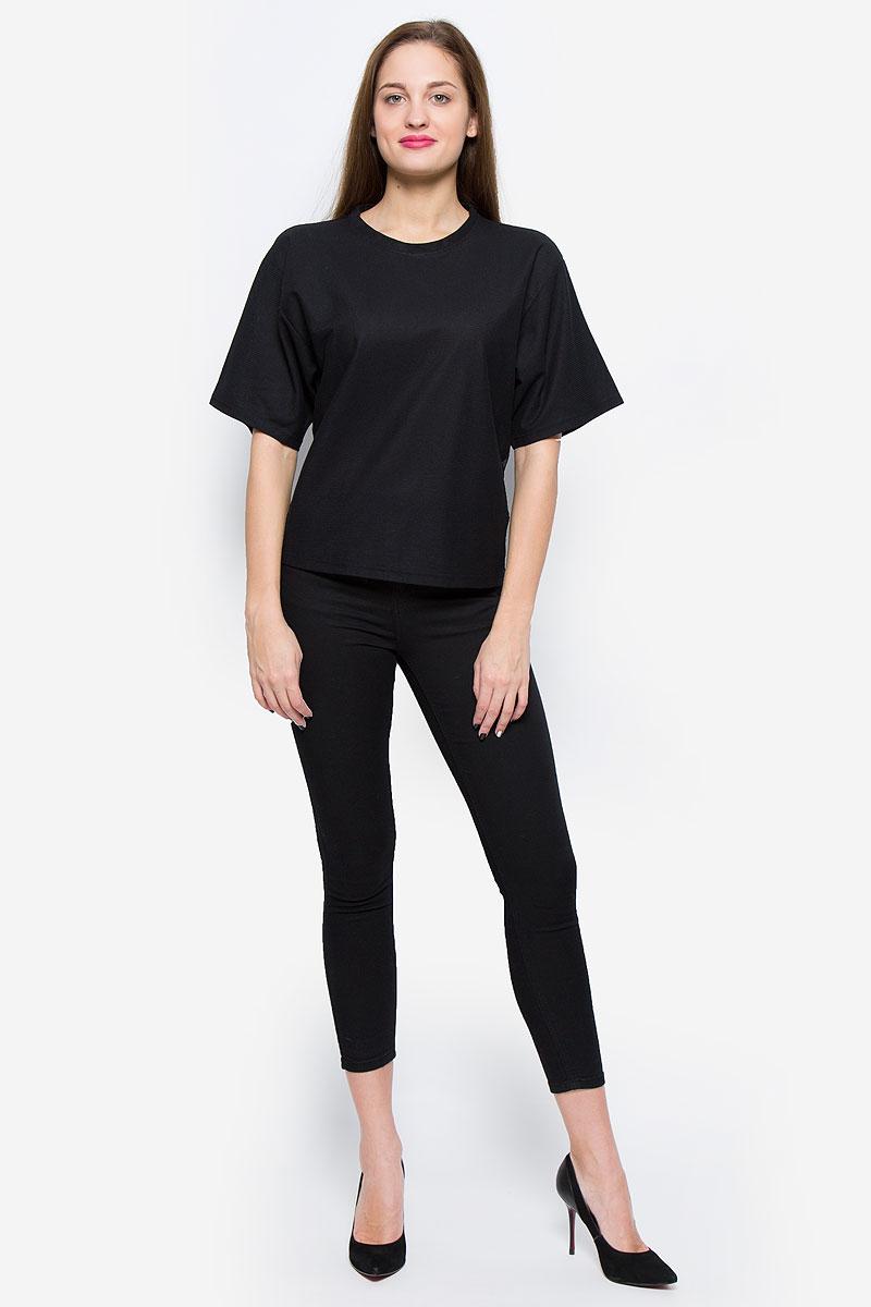 Футболка женская Diesel, цвет: черный. 00STUE-0BAJQ/900. Размер L (50) футболка женская diesel цвет бордовый 00ss5z 0wady 43u размер l 50