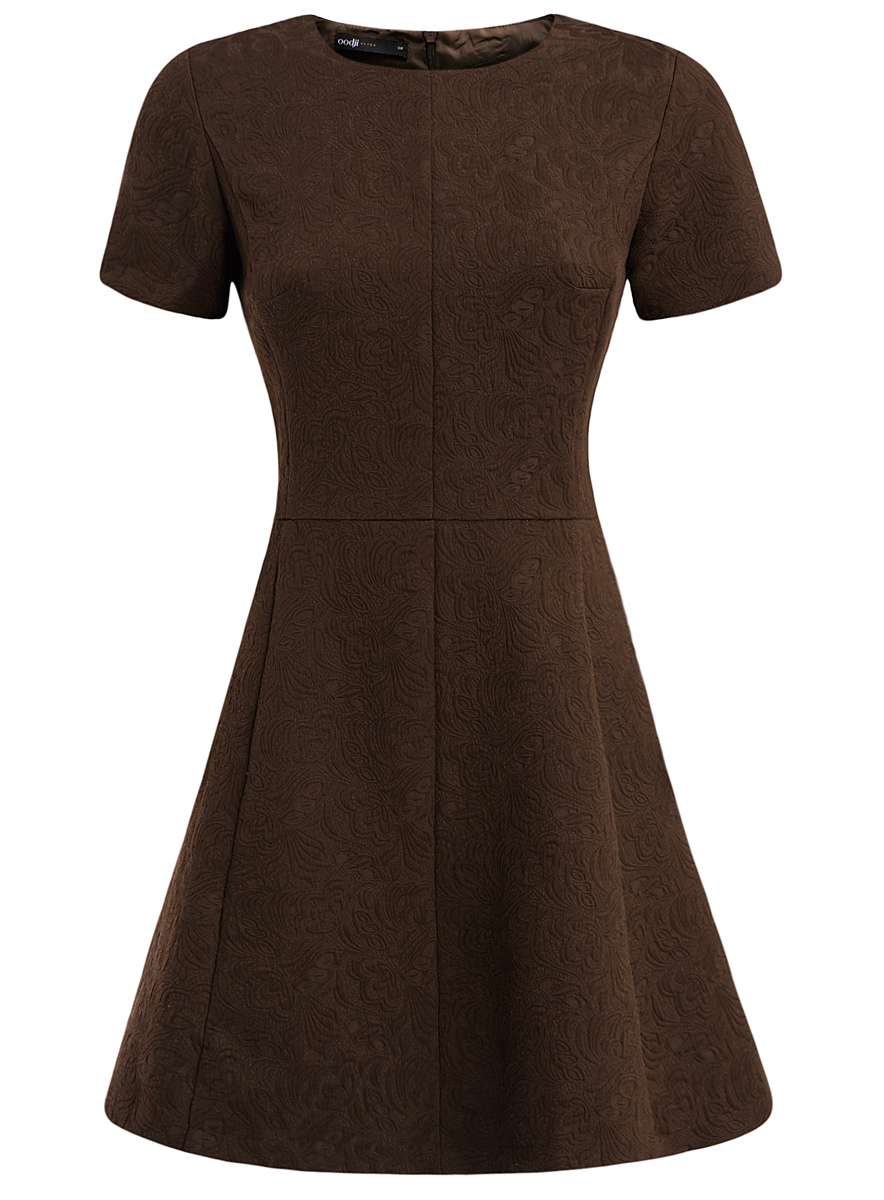 цены Платье oodji Ultra, цвет: коричневый. 11902161/45826/3900N. Размер 44 (50-170)