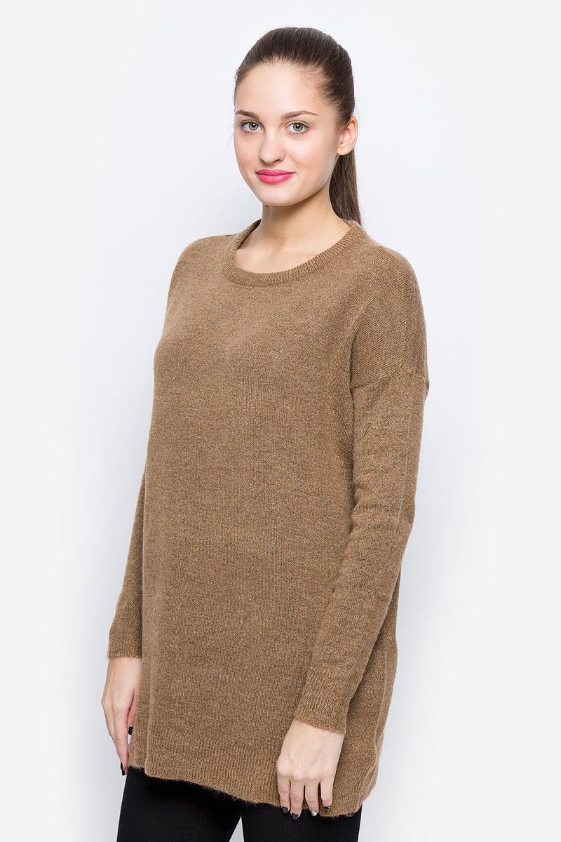 Джемпер женский Vero Moda, цвет: коричневый. 10159163. Размер M (44) джемпер женский vero moda цвет молочный 10189425 pristine размер m 44