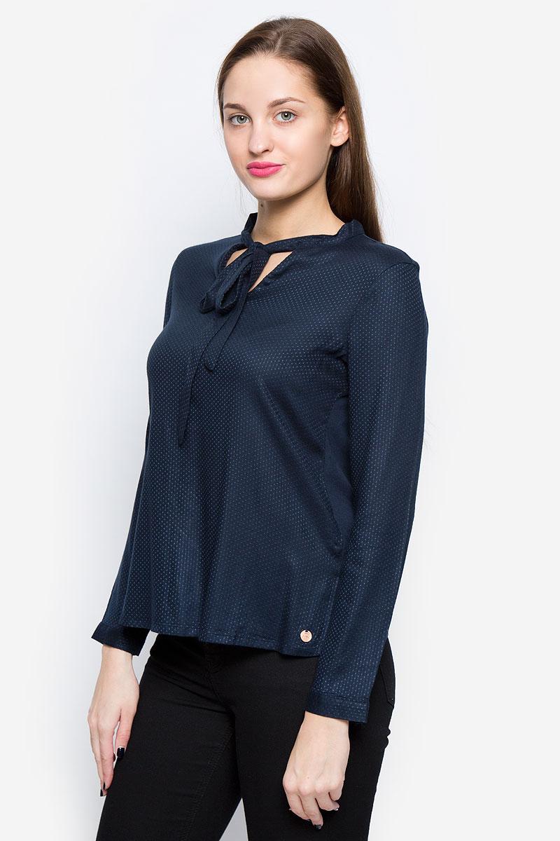 Блузка женская Tom Tailor Denim, цвет: темно-синий. 1036105.01.71_6901. Размер XS (42) блузка женская tom tailor denim цвет темно синий 1036105 01 71 6901 размер xs 42