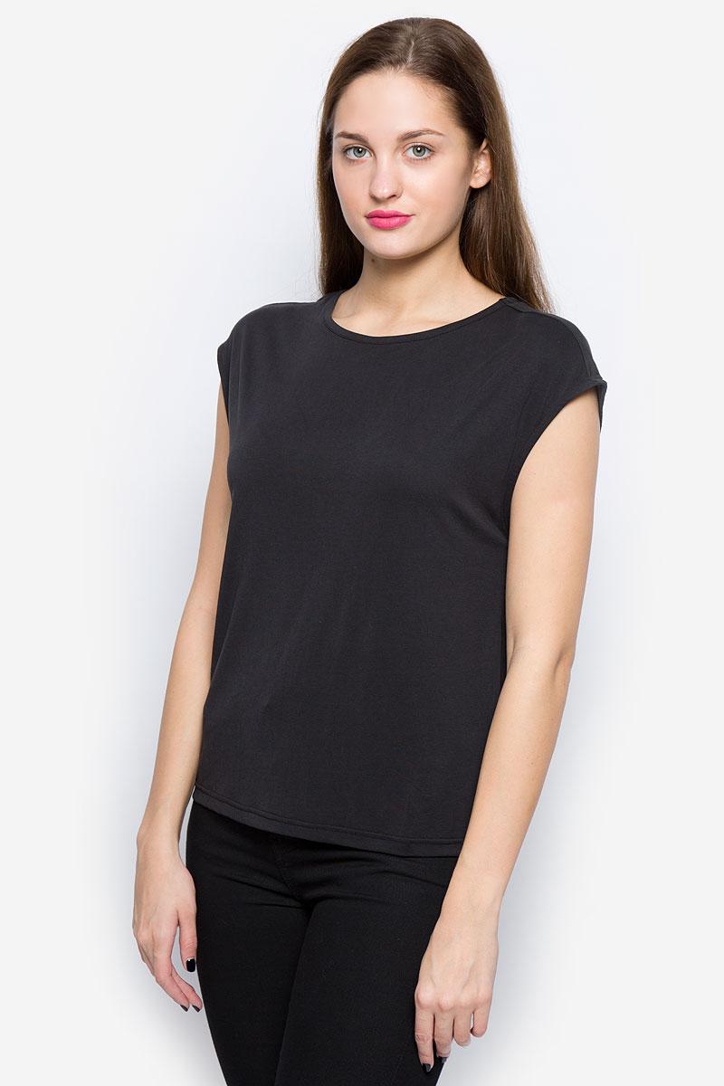 Блузка женская Selected Femme Sfirina, цвет: черный. 16052043. Размер L (46) блузка женская selected femme цвет розовый 16053871 размер 40 46