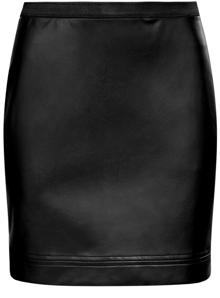 Юбка oodji Ultra, цвет: черный. 11602172/45059/2900N. Размер 40 (46-170)11602172/45059/2900NЮбка oodji Ultra выполнена из полиэстера с покрытием из полиуретана. Укороченная юбка имеет эластичную резинку на талии.