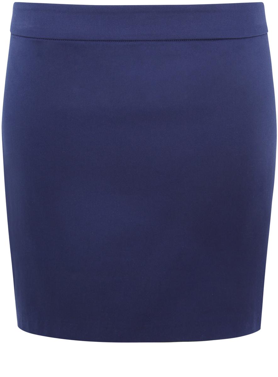 Юбка oodji Ultra, цвет: темно-синий. 11601179-2/14522/7900N. Размер 44-170 (50-170) юбка oodji ultra цвет темно синий 14100019 1 43642 7900n размер xl 50