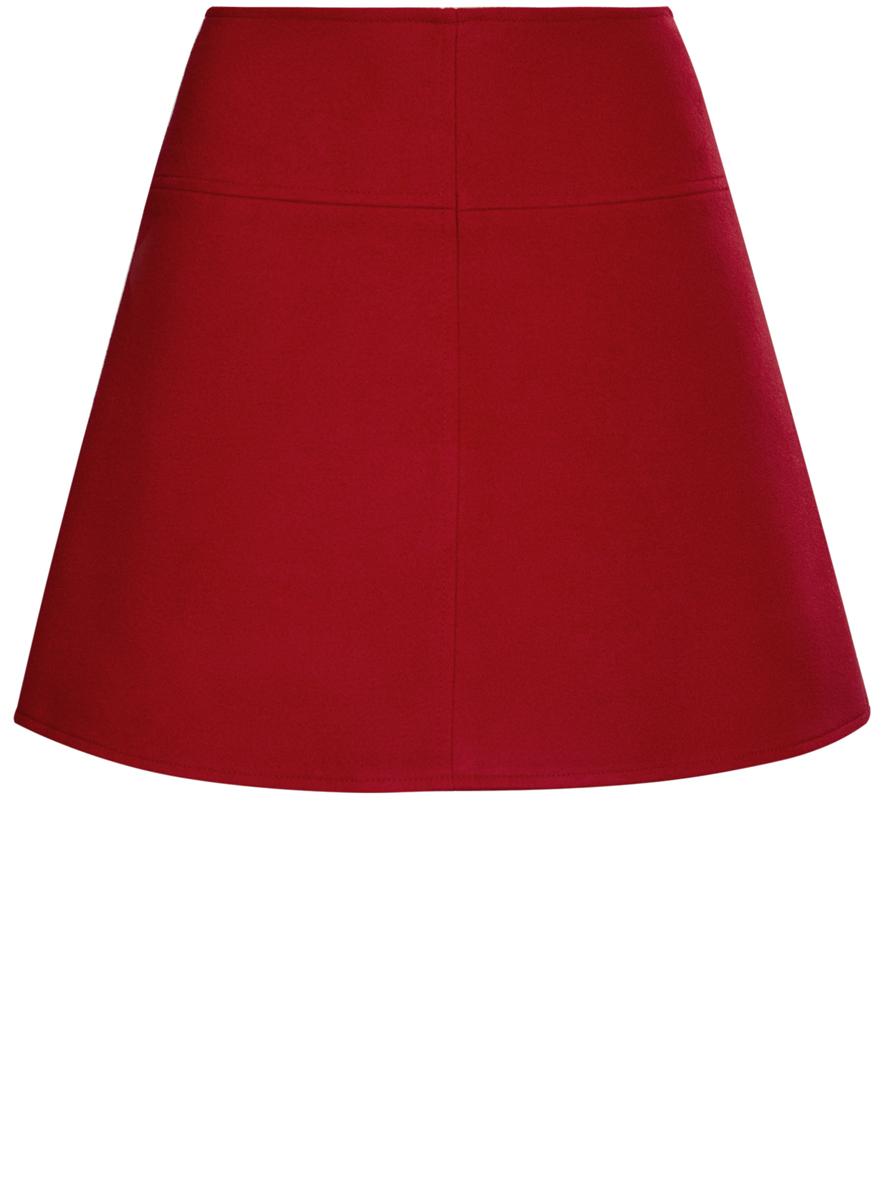 Юбка oodji Ultra, цвет: красный. 11600430/43765/4500N. Размер 36 (42-170) пуловеры oodji пуловер