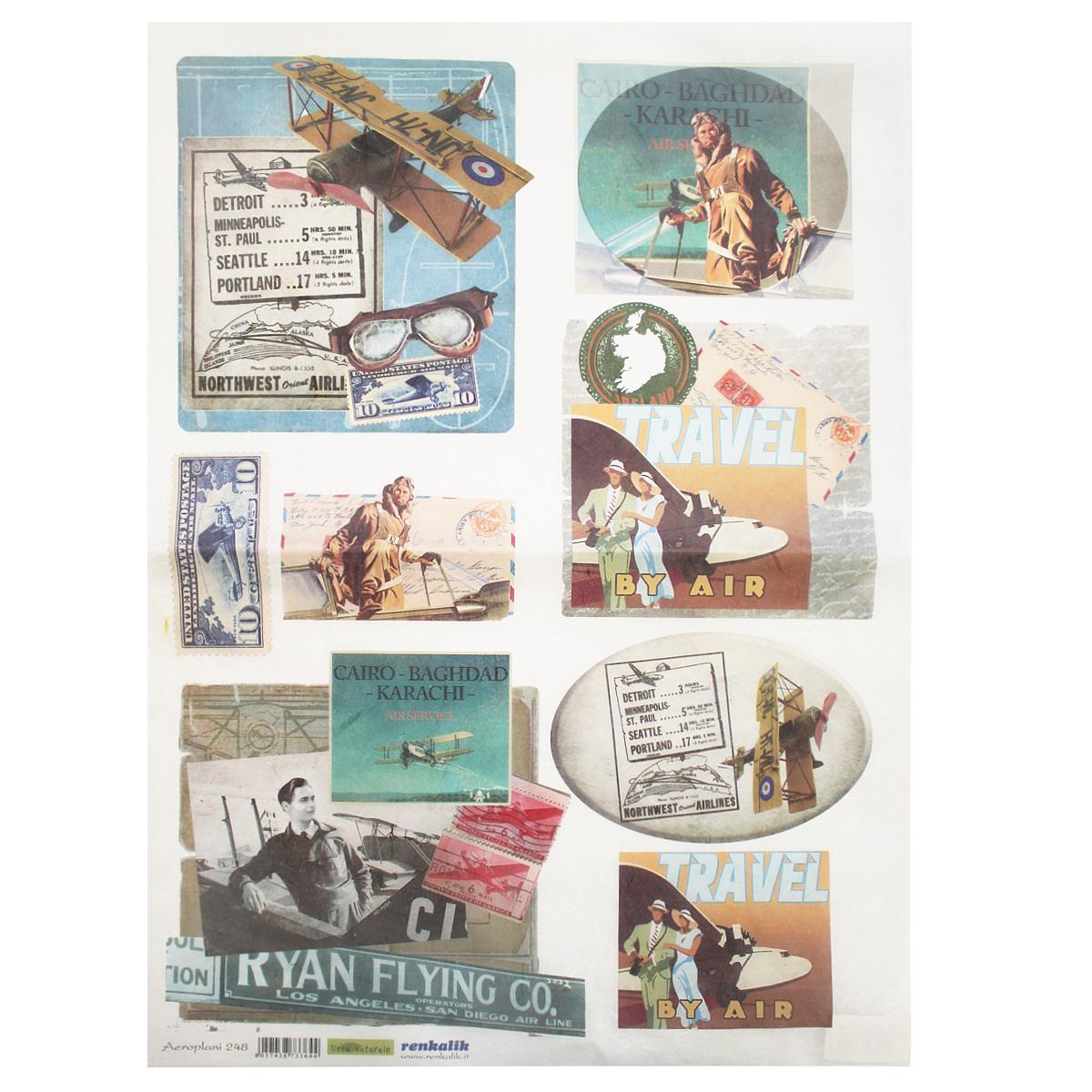 Рисовая бумага для декупажа Renkalik Самолеты. Ретро, 35 х 50 см oliver twist